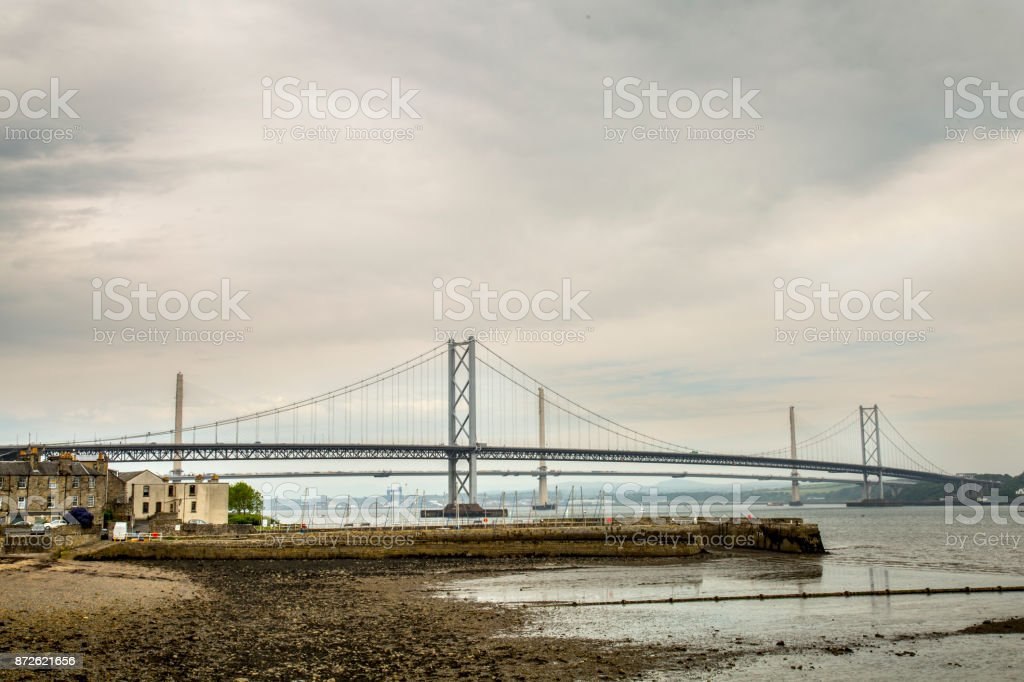 Forth of firth road bridge stock photo
