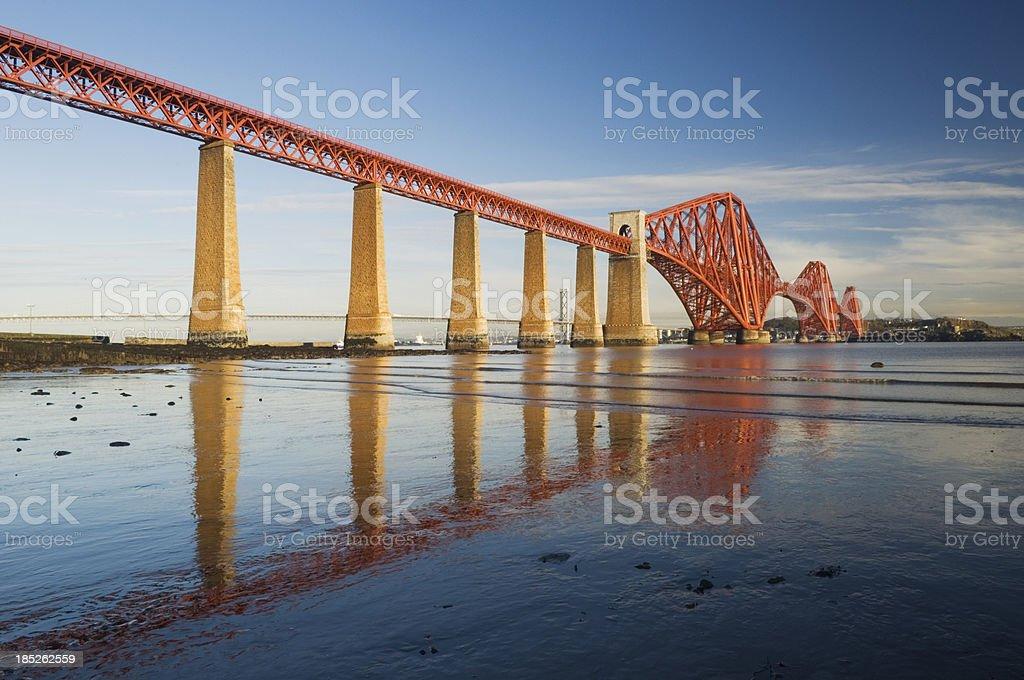 Forth Rail Bridge royalty-free stock photo