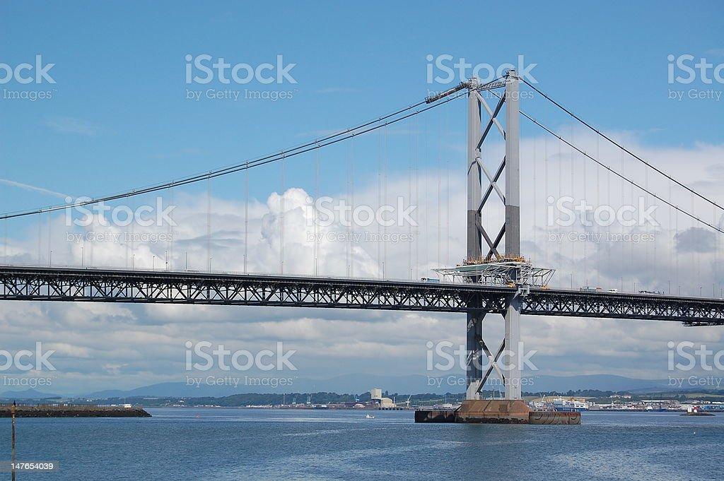 forth road bridge in scotland stock photo