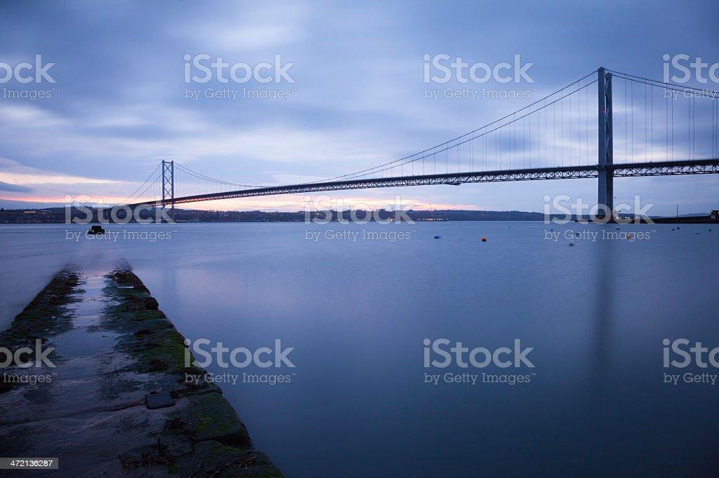 Forth Road Bridge. stock photo