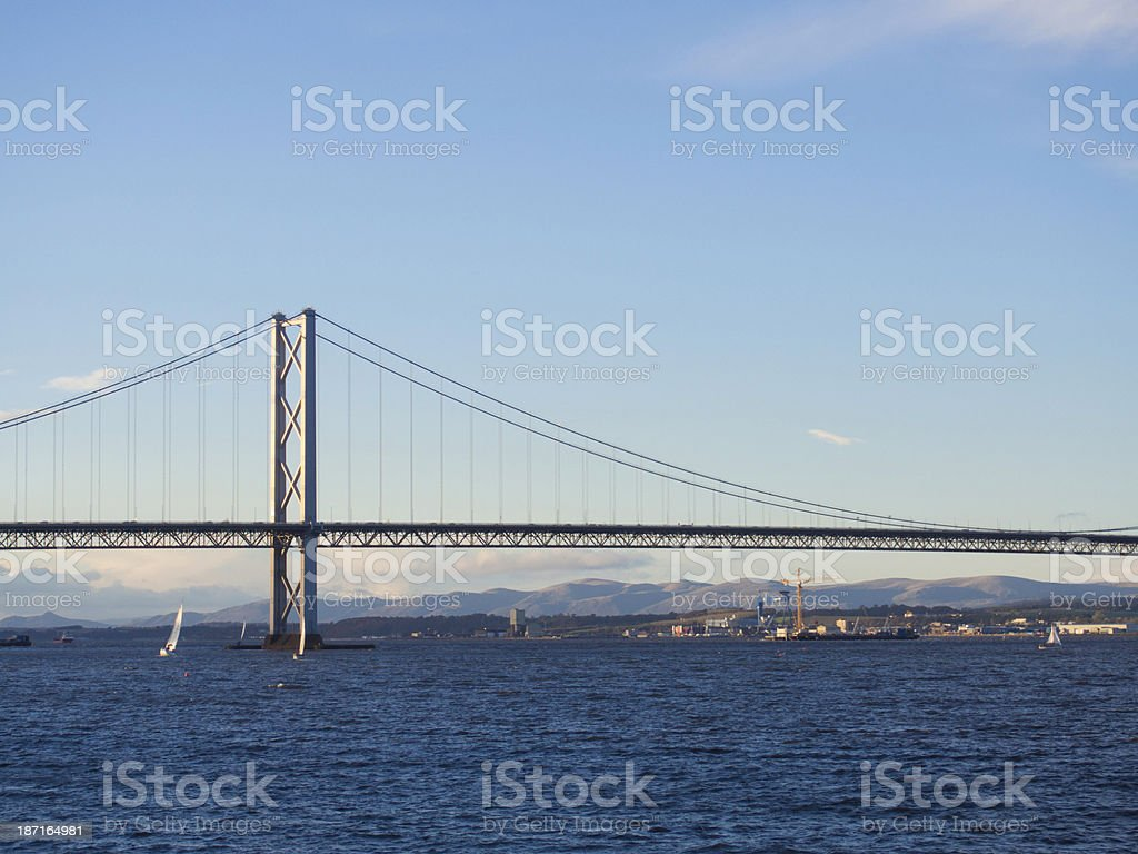 Forth Road Bridge, Scotland. stock photo