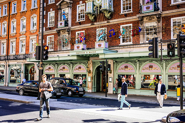 Forthnum & Mason Department Store Picadilly London stock photo