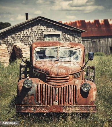 istock Forties Farm Truck 545348460