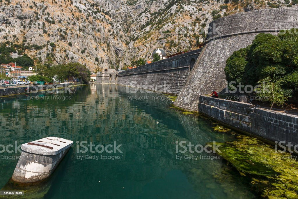 Fortification walls of Kotor, Montenegro - Royalty-free Adriatic Sea Stock Photo