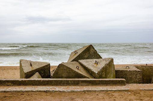 Fortifications ruins of the Baltic Sea coast