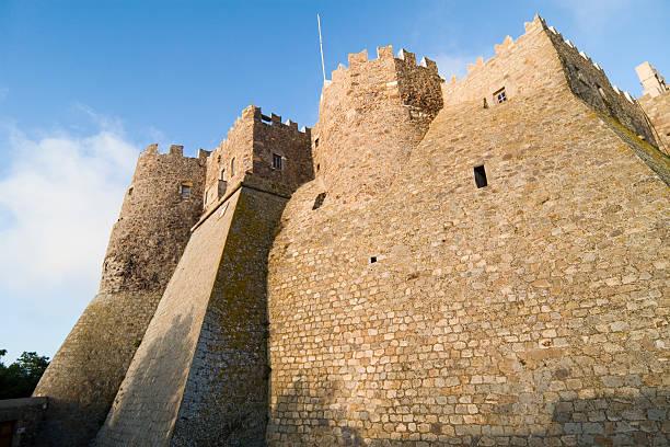 Fortifications surrounding Monestary of St. John the Theologian stock photo