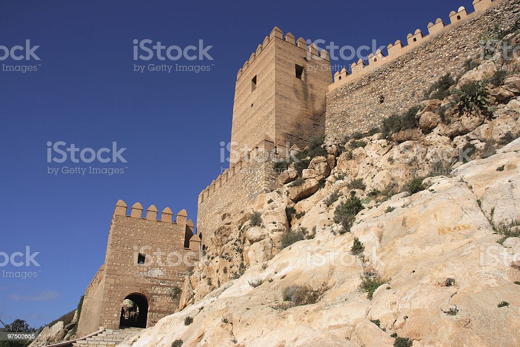 Fortified castle royalty-free stock photo