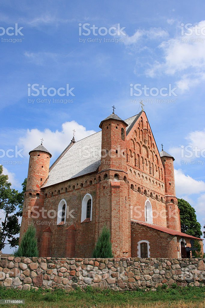 Fortified Church in Synkavičy stock photo