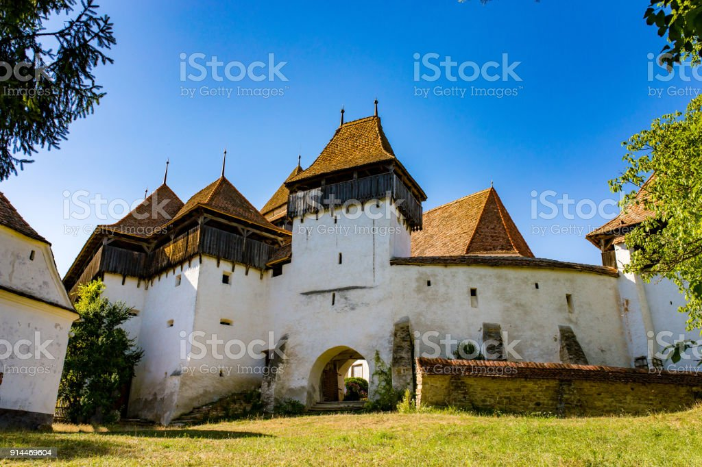 Fortified Church Viscri stock photo