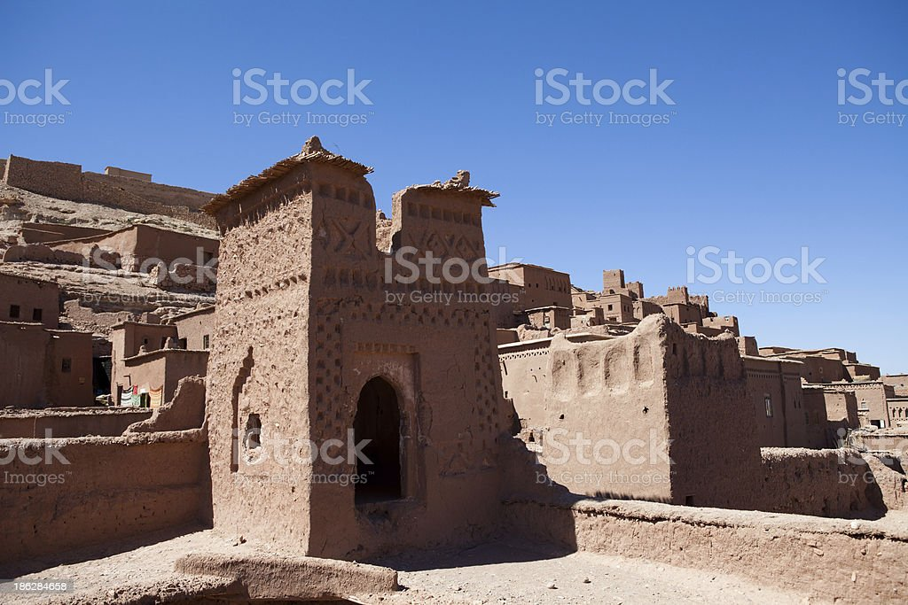fortified city  of Aït Benhaddou royalty-free stock photo