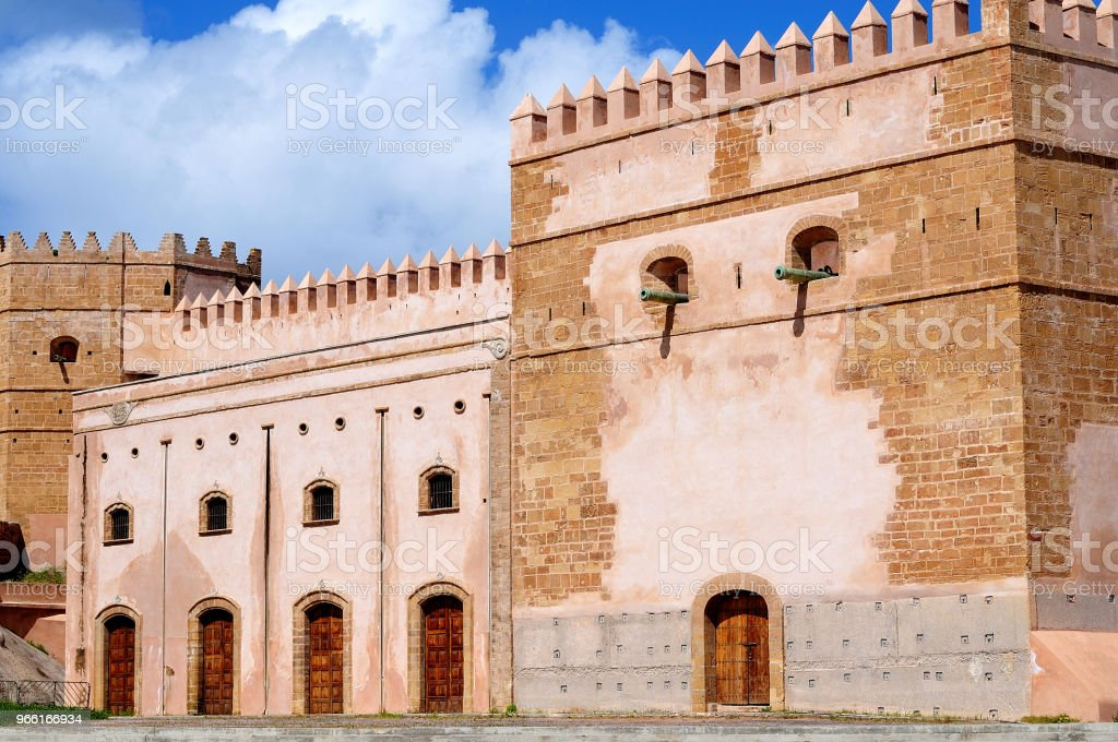 befäst stad vägg av kasbah Rabat - Royaltyfri Afrika Bildbanksbilder