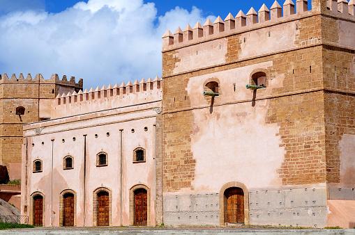 Befäst Stad Vägg Av Kasbah Rabat-foton och fler bilder på Afrika