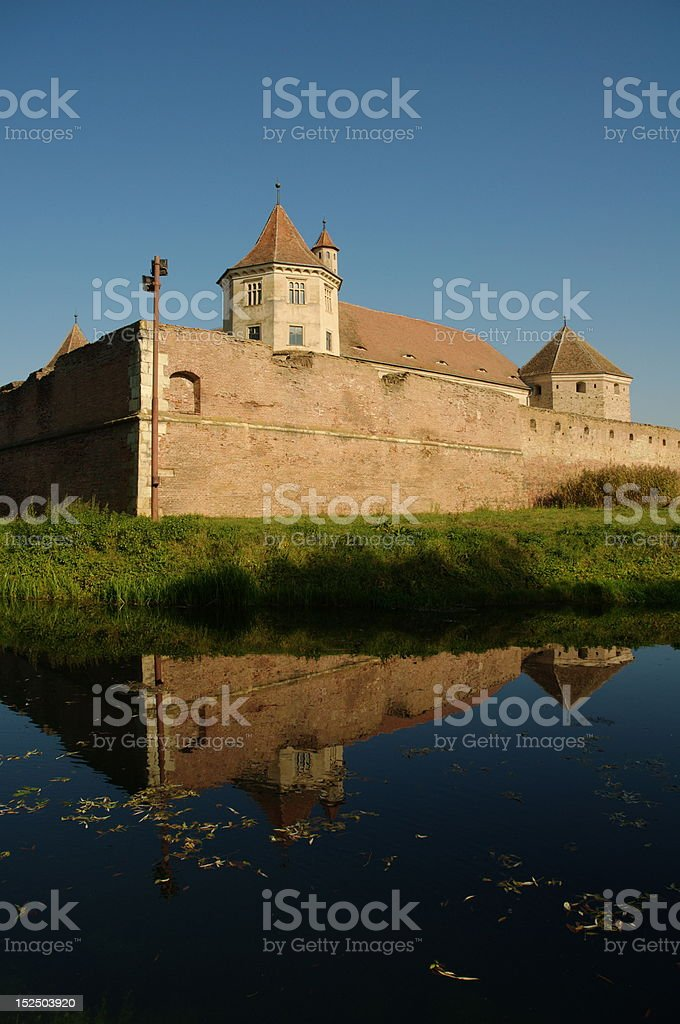 Fortified fortress from Transylvania royalty-free stock photo