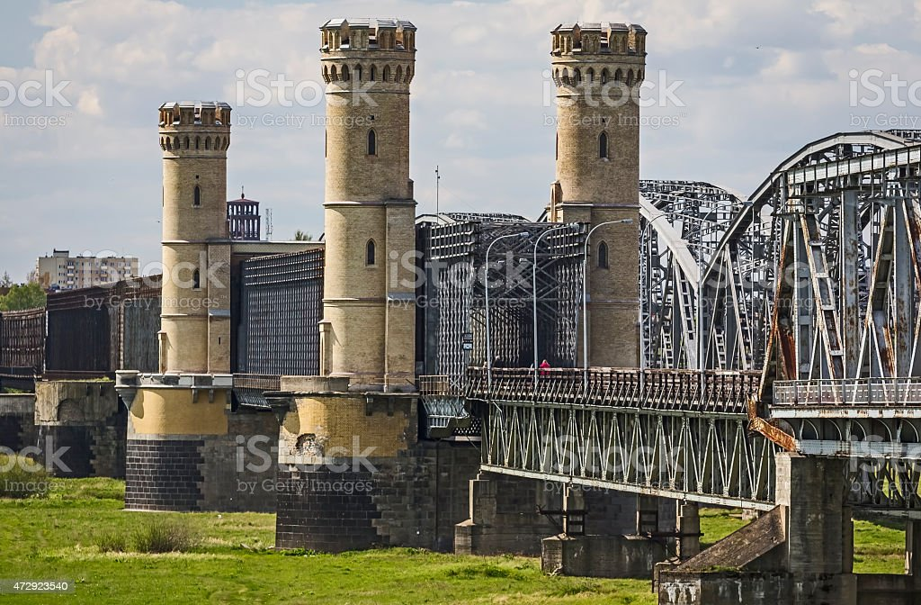 Fortified Railway Bridge stock photo