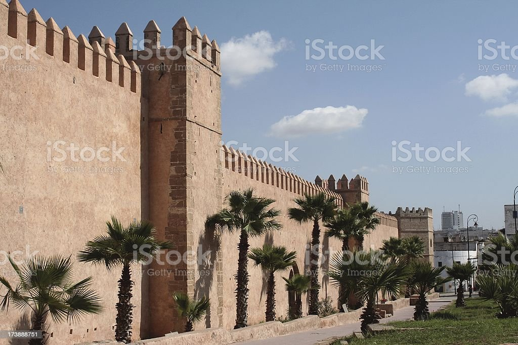 Fortified walls stock photo