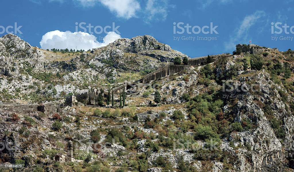 Fortres of St Ivan - Kotor, Montenegro royalty-free stock photo