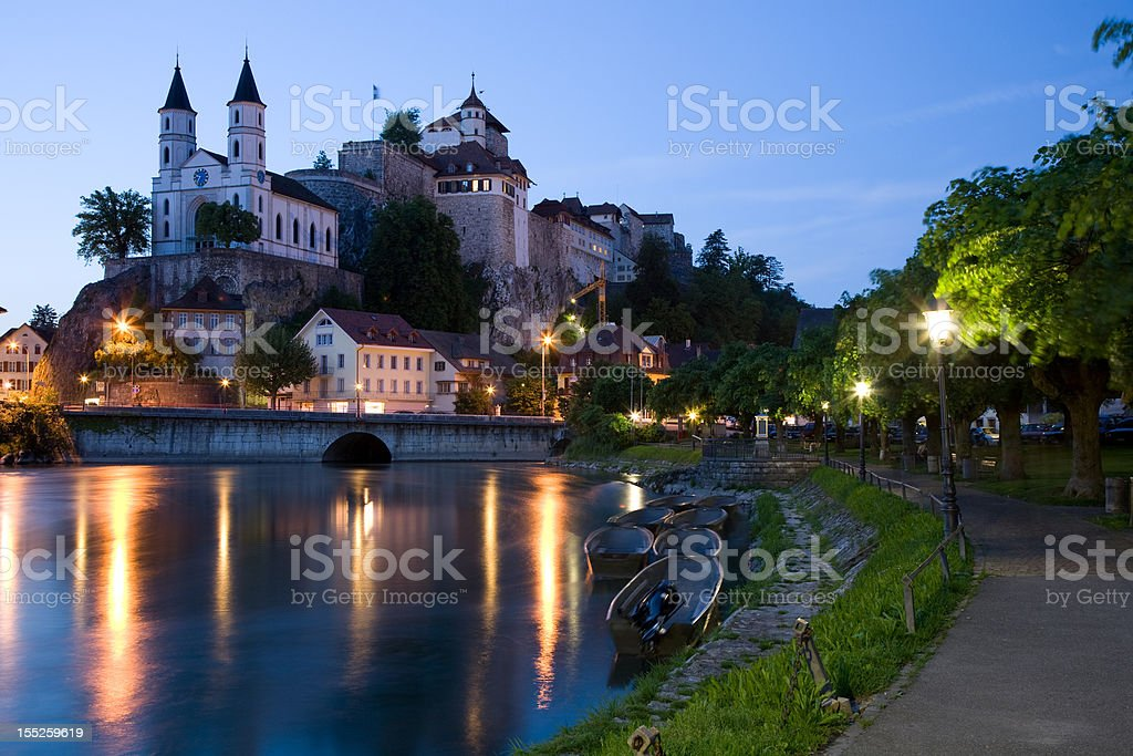 Fortress Aarburg stock photo