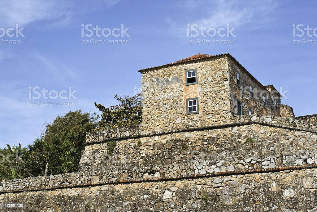 Fortress building stock photo