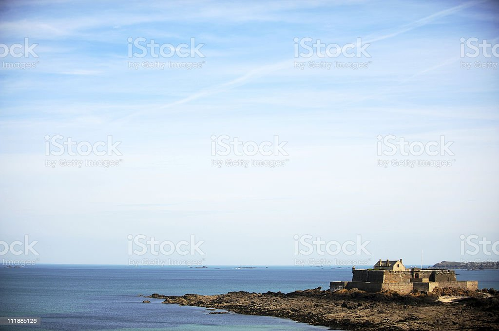 Fortress by the sea royalty-free stock photo