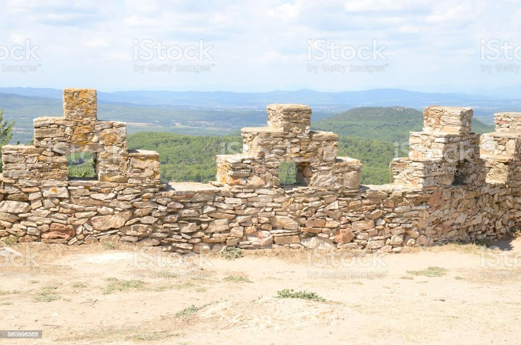 Fortaleza en Begur - foto de stock