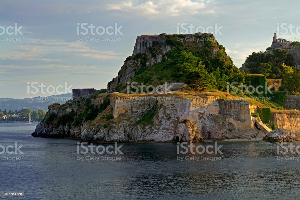 fortress in Corfu stock photo