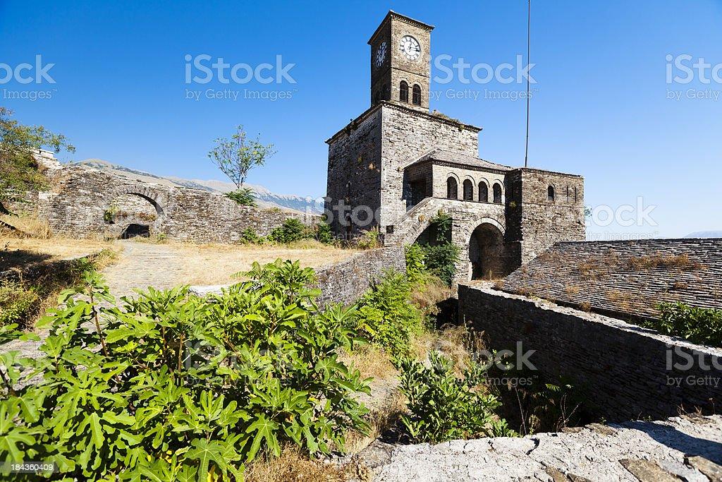 Fortress in Gjirokastra, Albania royalty-free stock photo