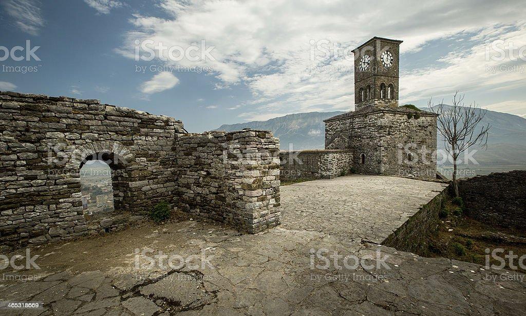 Fortress in Gjirokastra stock photo