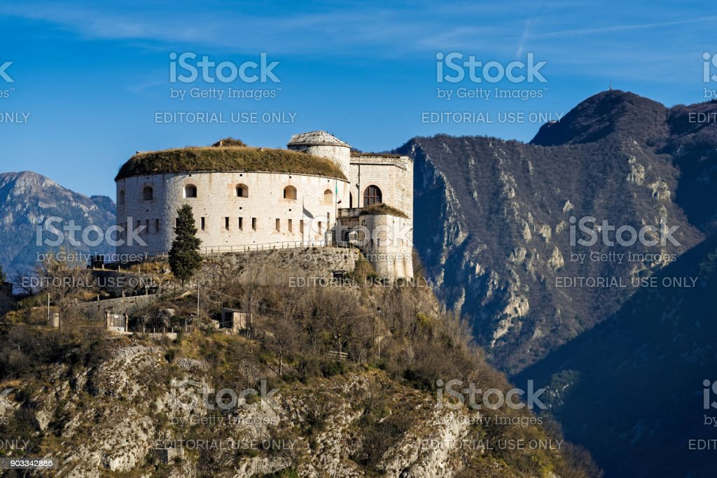 Fortress in Italy stock photo