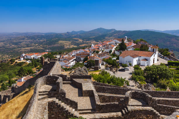 Fortress in village Marvao - Portugal stock photo