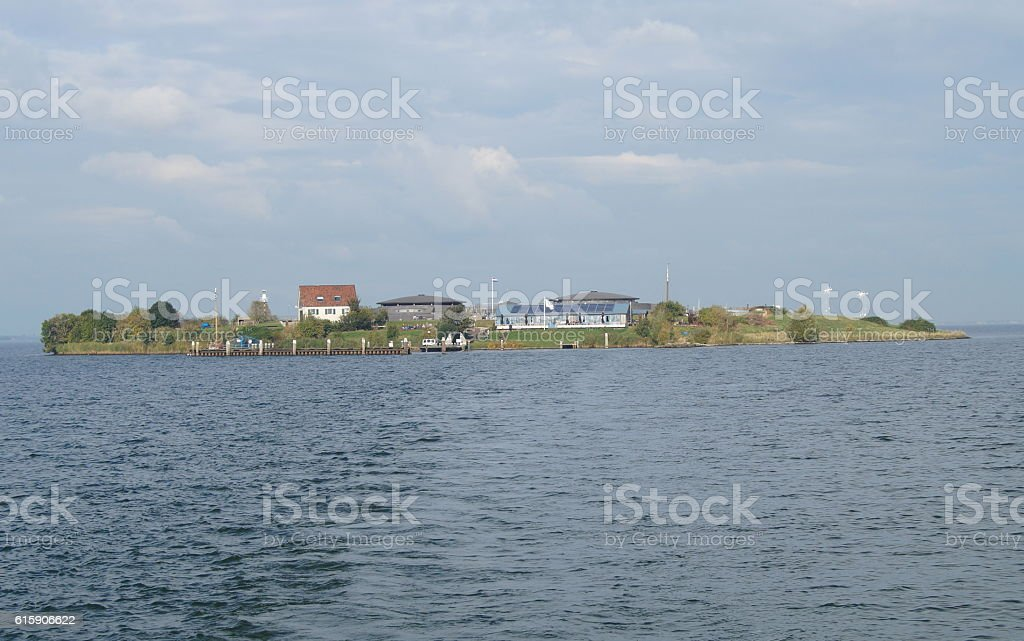 Fortress island Pampus in the Netherlands stock photo