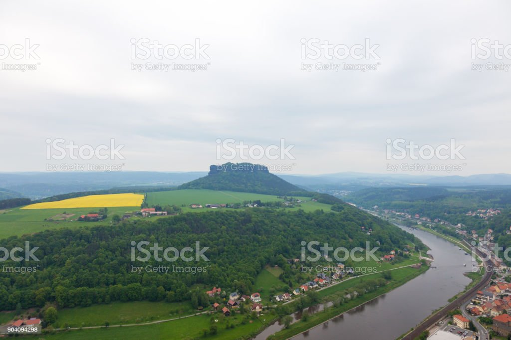 Fortress Konigstein. Germany - Royalty-free Elbe River Stock Photo