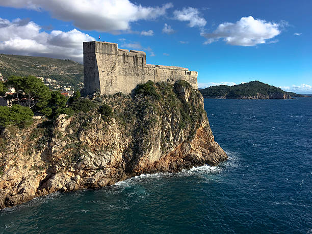 Fortress Lovrijenac in Dubrovnik Croatia from the west side ストックフォト