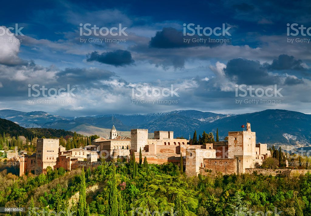 Fortress of Alhambra. Granada, Spain - foto de stock