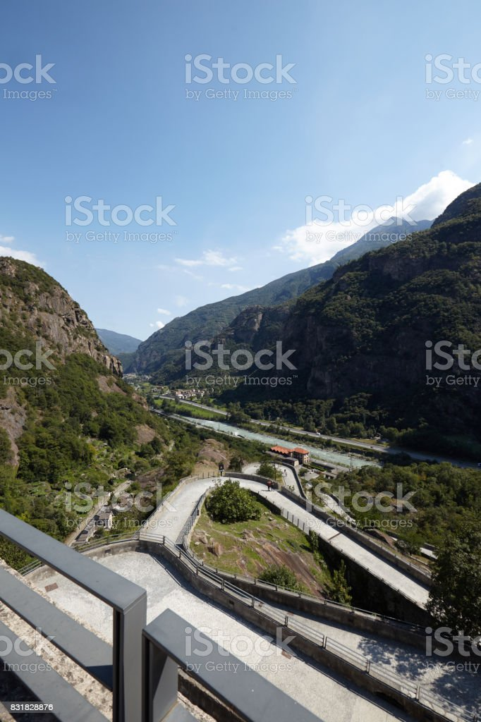 Fortress of Bard - Aosta Valley, Italy stock photo