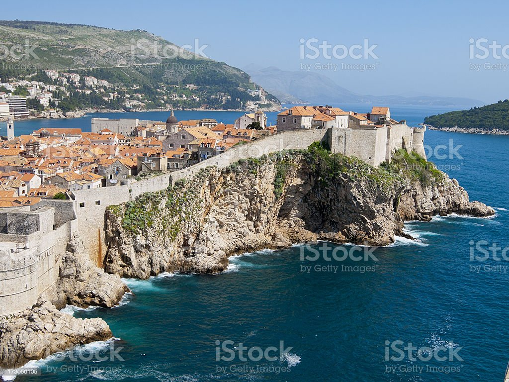 Fortress of Dubrovnic on the Adriatic royalty-free stock photo