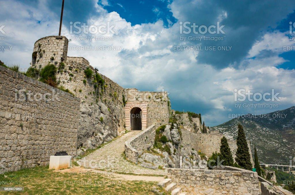 Fortress of Klis, Croatia - Royalty-free Adriatic Sea Stock Photo