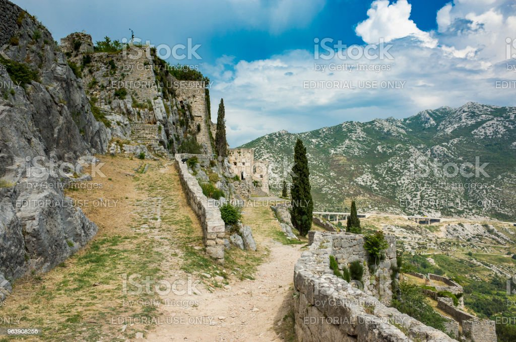 Fortress of Klis, Croatia - Royalty-free Adriatic Sea Stock Photo