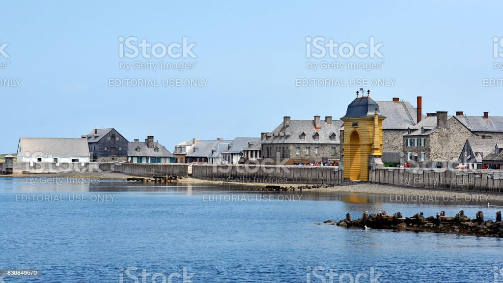 Fortress of Louisbourg, Cape Breton, Nova Scotia, Canada stock photo
