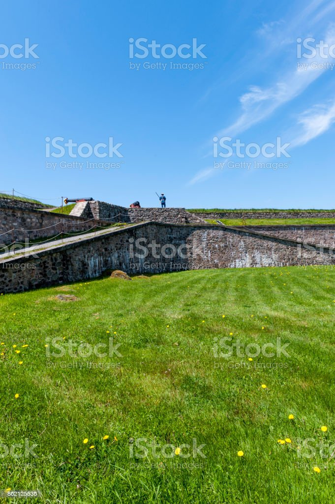 Fortress of Louisbourg National Historic Site stock photo