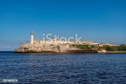 istock Fortress of the Bay of Havana. El Morro 1307680879