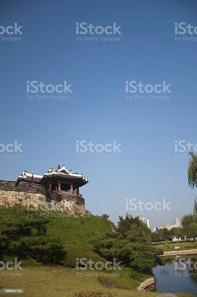 Fortress on a Hill royalty-free stock photo
