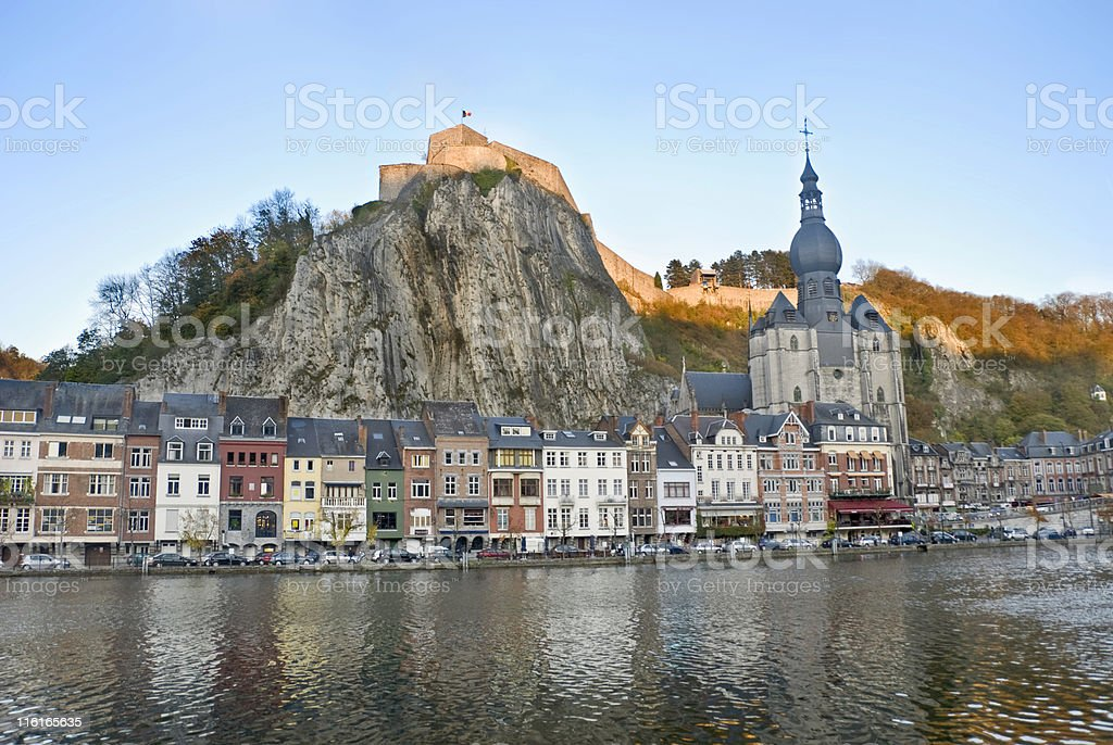 Fortress on a rock royalty-free stock photo