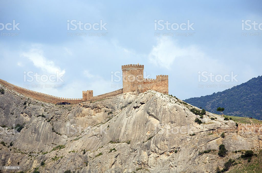 Fortress On Rock royalty-free stock photo