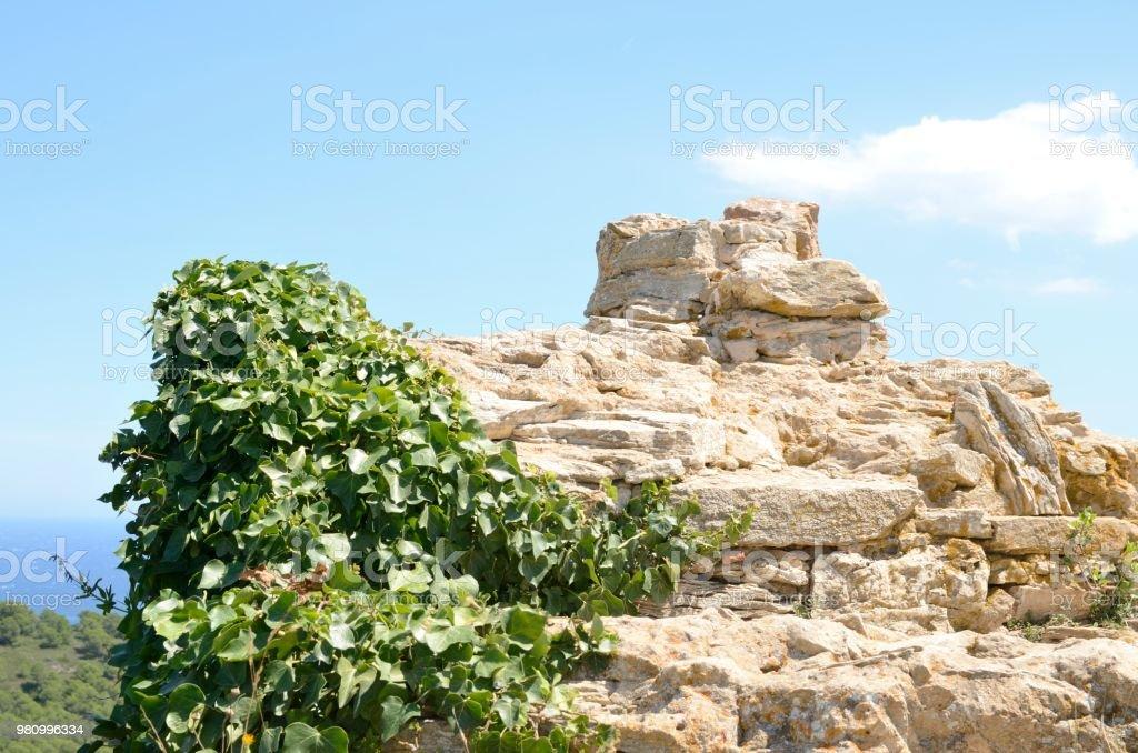 Fortaleza sobre el mar Mediterráneo - foto de stock