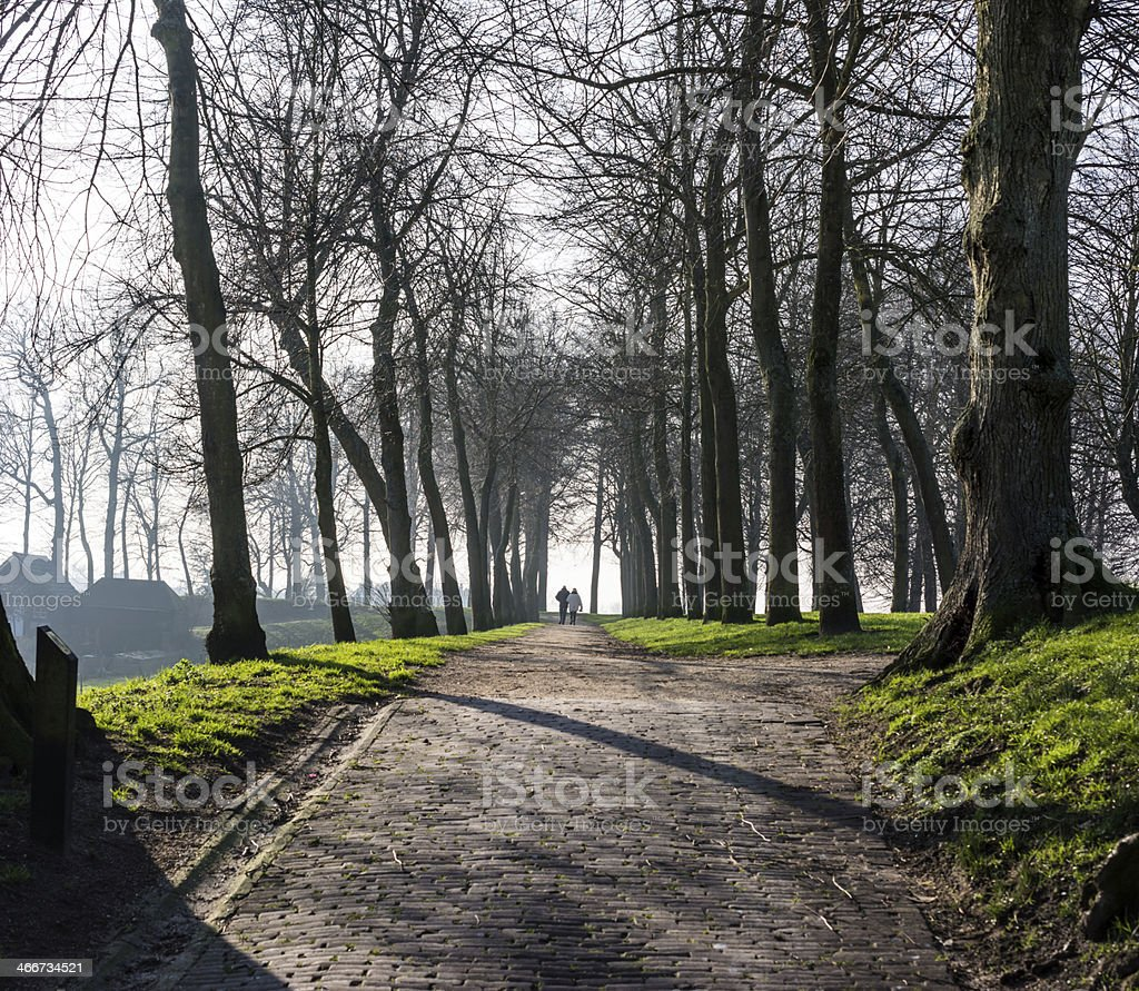 Fortress rampart Elburg town royalty-free stock photo