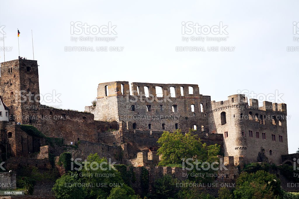 Festung Rheinfels castle stock photo