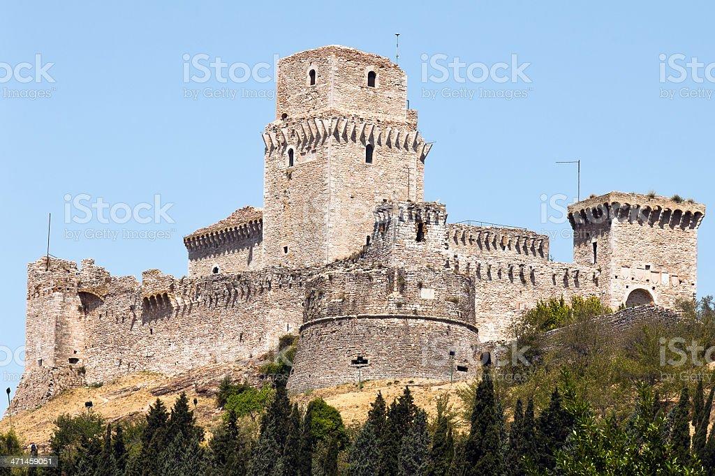 Fortress Rocca Maggiore stock photo