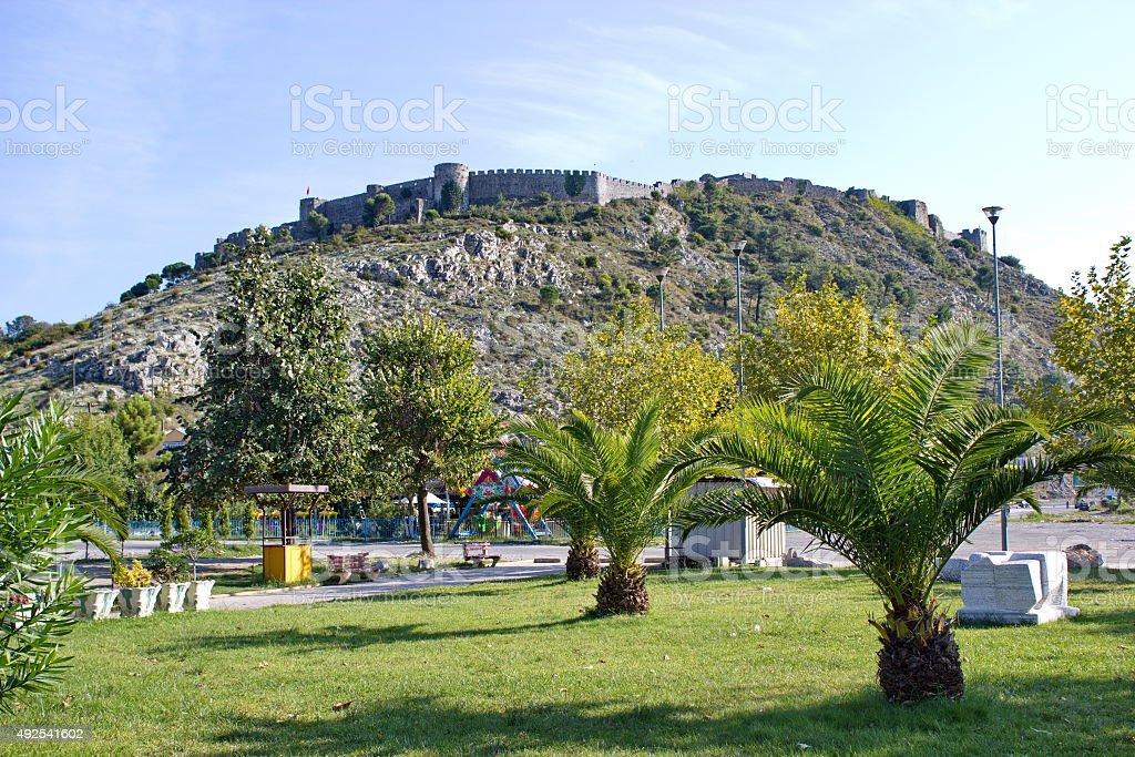 fortress Rozafa in Shkoder, Albania stock photo