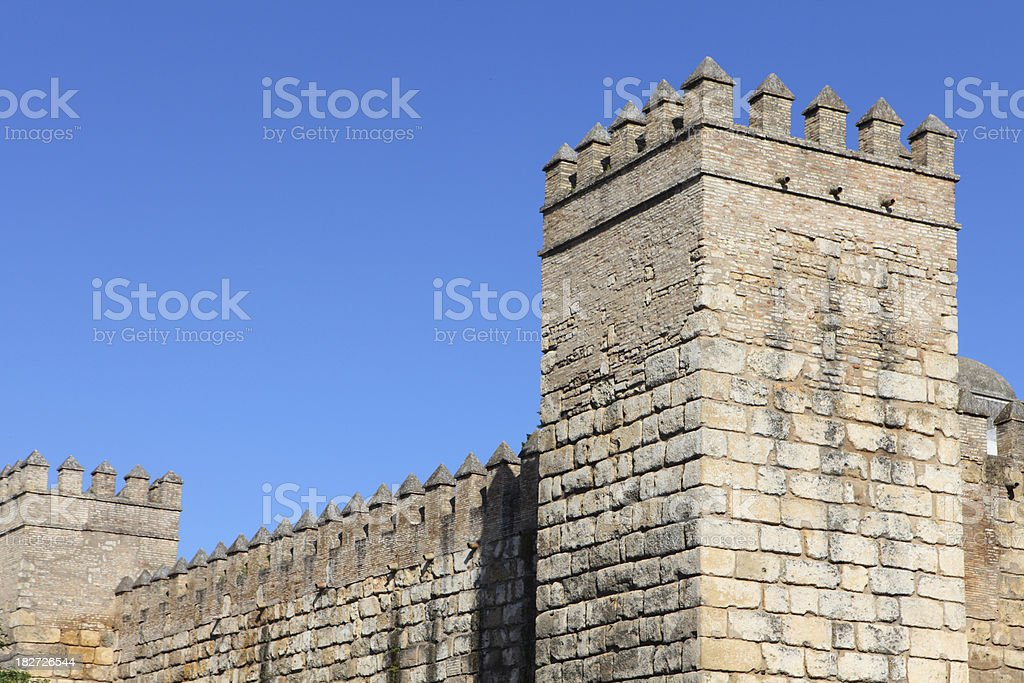 Fortress Wall royalty-free stock photo