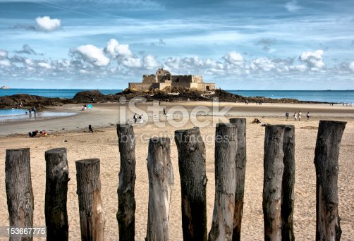 The fortress at low tide - (saint Malo, Brittany, France)